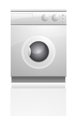 maschine: detailed illustration of a washing maschine, eps10 vector
