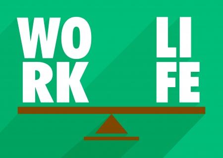 imbalance: work life balance illustration, flat design