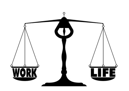 detailed illustration of a work life balance Stock Vector - 22952208