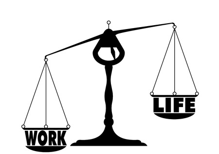 detailed illustration of an unbalanced work life balance Stock Vector - 22952209
