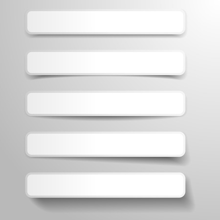 different shapes: illustration of abstract banners with different shapes of dropshadows, eps 10 vector