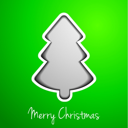modern abstract christmas tree on green background, eps10 vector illustration Vector