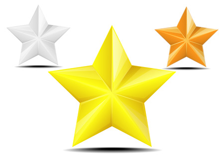 detailed illustration of stars with different coloration, eps10 vector Vector