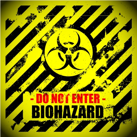 detailed illustration of a grungy biohazard warning sign Vector