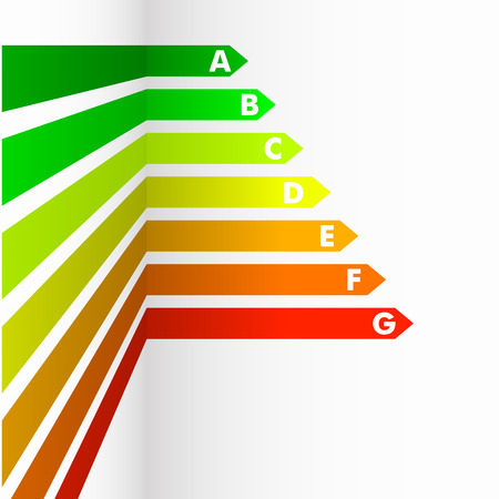 consuming: detailed illustration of an energy efficiency rating background Illustration