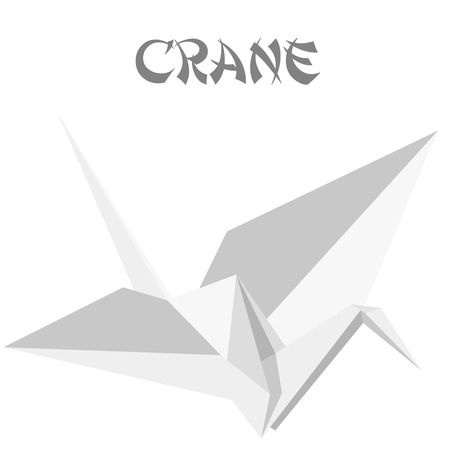 geometric shape illustration of an origami crane Vector