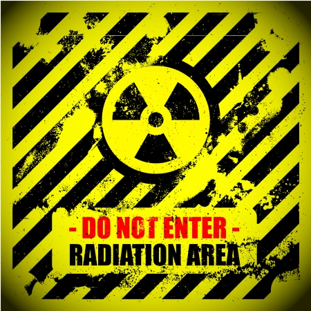 detailed illustration of a grungy radiation warning sign Stock Vector - 24146354