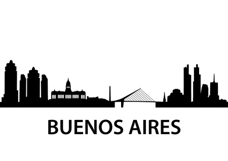city  buildings: illustration of the Buenos Aires Skyline