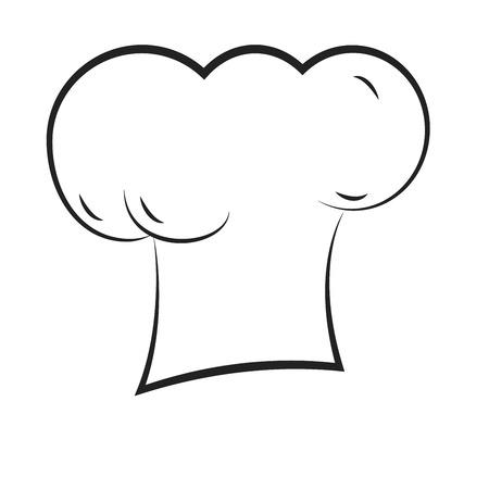 kitchener: simple illustration of a chef hat outline Illustration