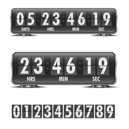 detailed illustration of a countdown timer Vector