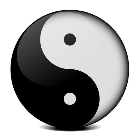 detailed illustration of yin yang symbol