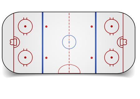 detailed illustration of an icehockey court Vektorové ilustrace