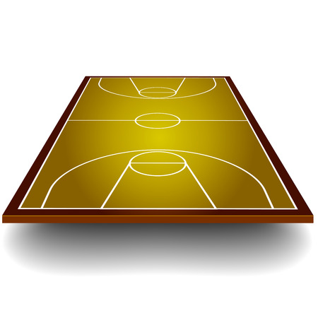 basketball court: detailed illustration of a basketball court with perspective, eps10 vector Illustration