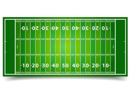 detailed illustration of an American Football field, eps10 vector Vector