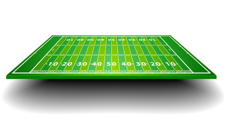sideline: detailed illustration of an American Football field with perspective, eps10 vector