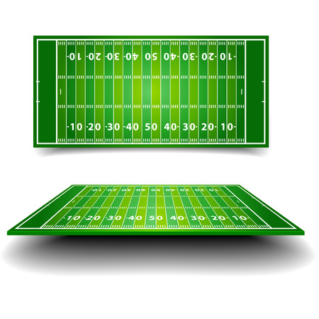 detailed illustration of an American Football field with perspective, eps10 vector 版權商用圖片 - 25509309