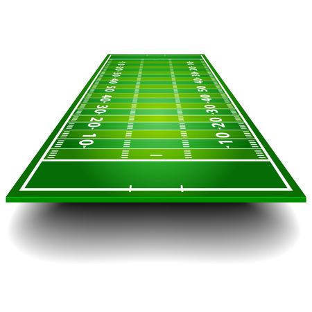 detailed illustration of an American Football field with perspective, eps10 vector 版權商用圖片 - 25509310