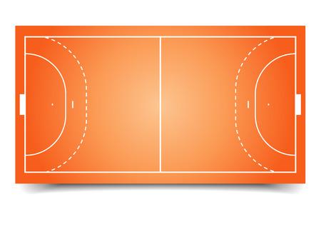 balonmano: ilustraci�n detallada de un campo de balonmano, vector eps10