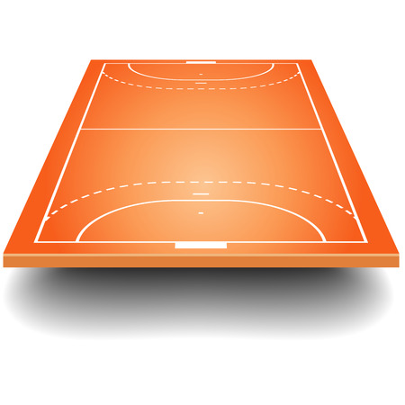 infield: detailed illustration of a handball field with perspective, eps10 vector