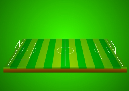 detailed illustration of a soccer field on a green background, eps10 vector Vector