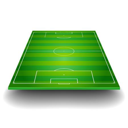campo di calcio: illustrazione dettagliata di un campo di calcio con la prospettiva frontale, eps10 vettoriale