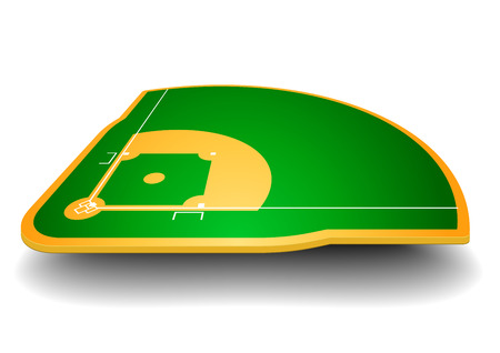 detailed illustration of a baseball field with perspective