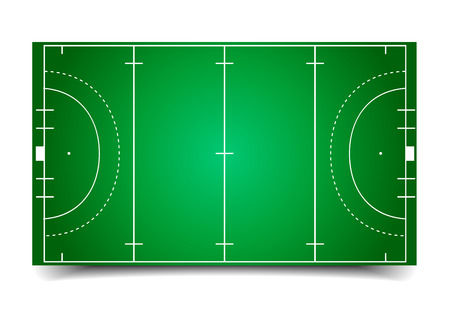 detailed illustration of a hockey field