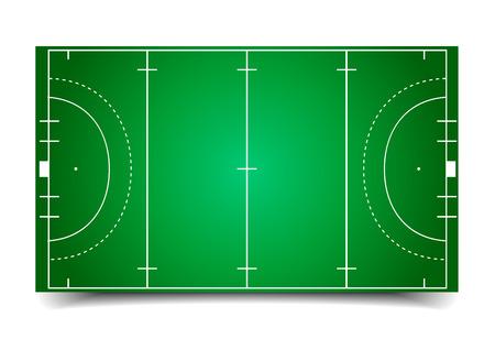 Ilustración detallada de un campo de hockey Foto de archivo - 25630325
