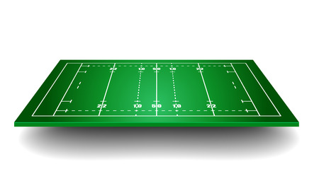 winning pitch: detailed illustration of a rugby field with perspective