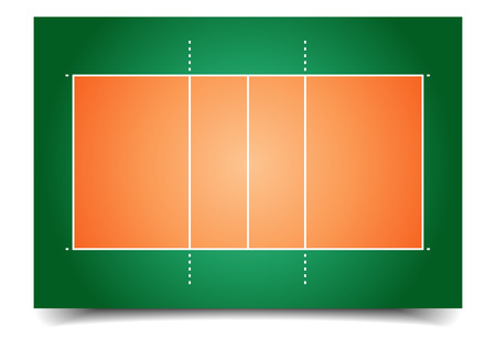 detailed illustration of a volleyball court Illustration