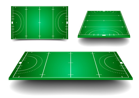 detailed illustration of Hockey fields with different perspective  Çizim