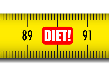 다이어트 텍스트 측정 테이프의 그림