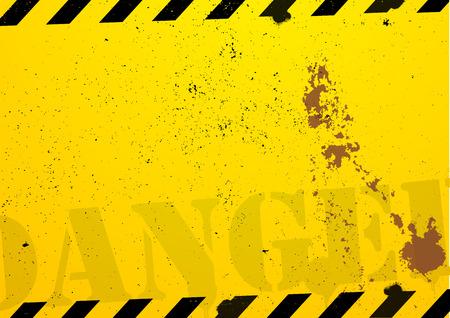 hazard stripes: a grunge danger background
