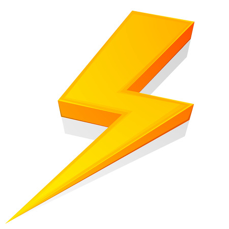 illustration of a glossy lightning bolt Vector