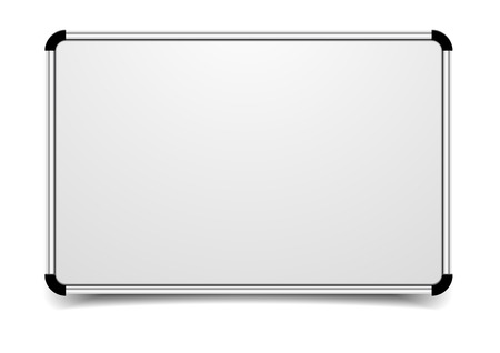 detailed illustration of a blank whiteboard Vector