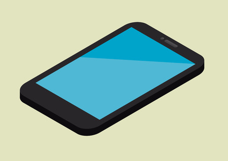minimalistic illustration of a smartphone in perspective view, eps10 vector Vector