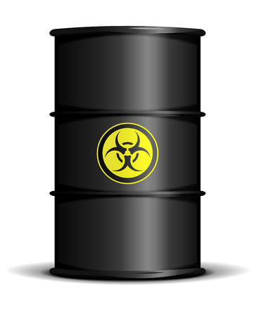 detailed illustration of a biohazard waste barrel Vector