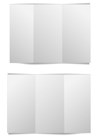 detailed illustration of a blank brochure template, eps10 vector Vector