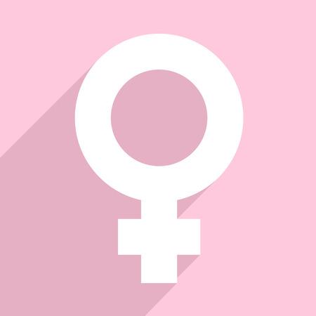 minimalistic illustration of a female symbol, eps10 vector