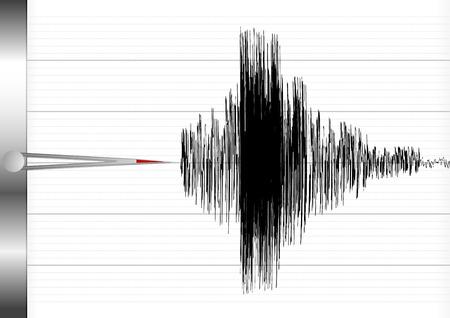 sismogr�fo: ilustraci�n detallada de un sism�grafo Vectores