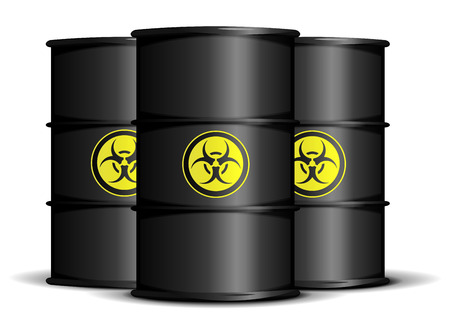 detailed illustration of biohazard waste barrels Vector