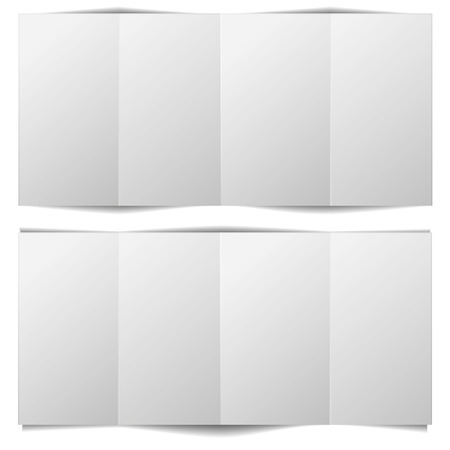 detailed illustration of a blank brochure template Vector
