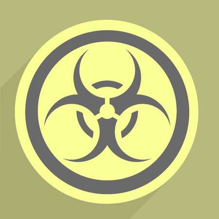 minimalistic illustration of a biohazard icon Vector