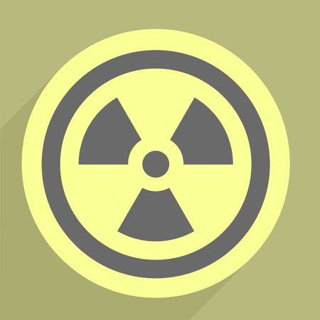 minimalistic illustration of a radiation icon Stock Vector - 26395382