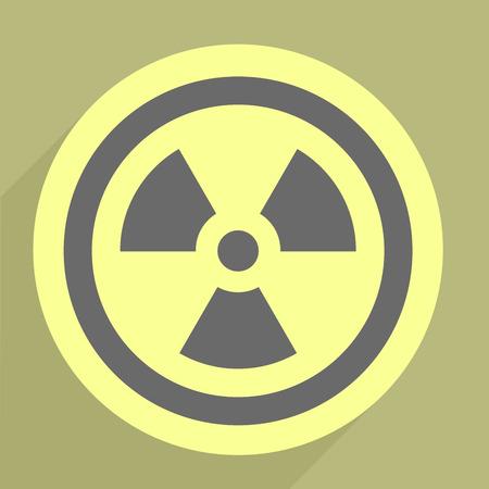 minimalistic illustration of a radiation icon Stock Vector - 26395382