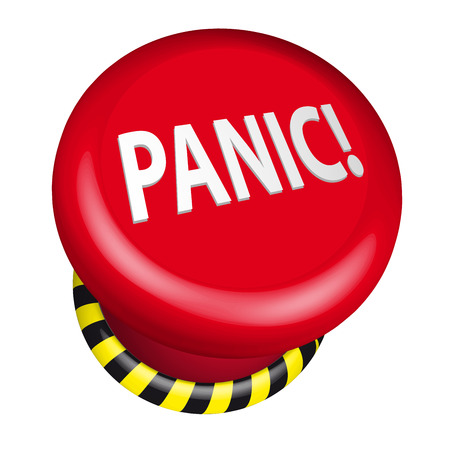 panic button: detailed illustration of an industrial emergency panic button