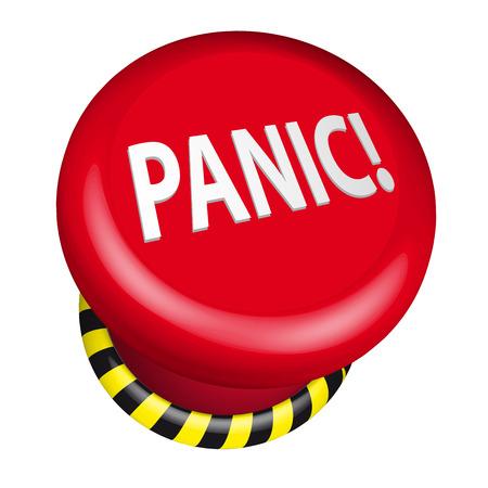 paniek: gedetailleerde illustratie van een industriële nood paniekknop