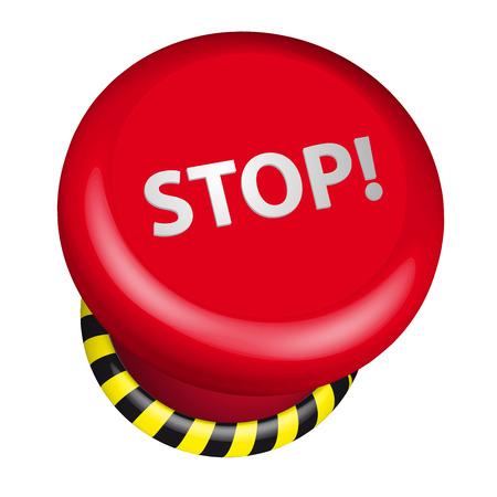 boton stop: ilustraci�n detallada de un bot�n de parada de emergencia industrial