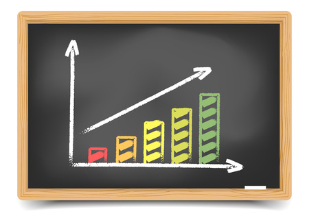 detailed illustration of a performance diagram on a blackboard Vector