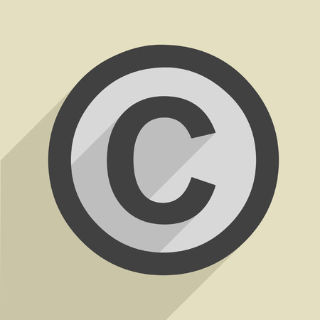 attribution: minimalistic illustration of a copyright icon Illustration